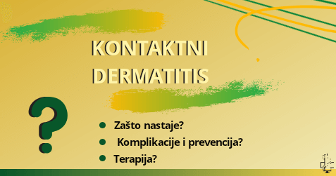 Kontaktni dermatitis, znaci i simptomi, ekcem, alergijski dermatitis